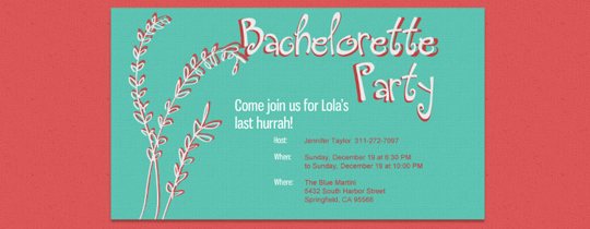 The Cutest Free Bachelorette Party eVites | Bachelorette Party ...