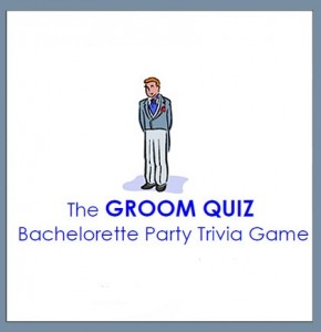 Free Groom Quiz, Groom Quiz, Bridal Party Game, Free Bridal Party Game, Free Bridal Printable, Free Bachelorette Printable