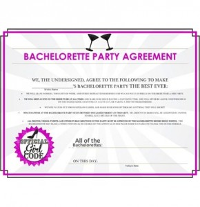 FREE Printable Bachelorette Party Agreement