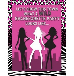 wild glam free bachelorette party invitations