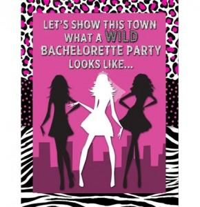 wild glam free bachelorette party invitations