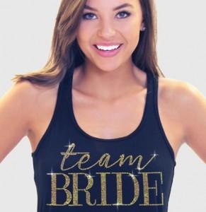 team bride flowy tank